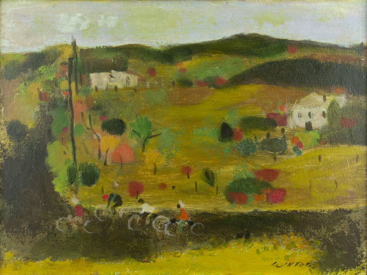 William Winter Bicycles, 1988 Oil on canvas board - Huile sur marouflée sur carton 12 x 16 in 30.5 x 40.6 cm