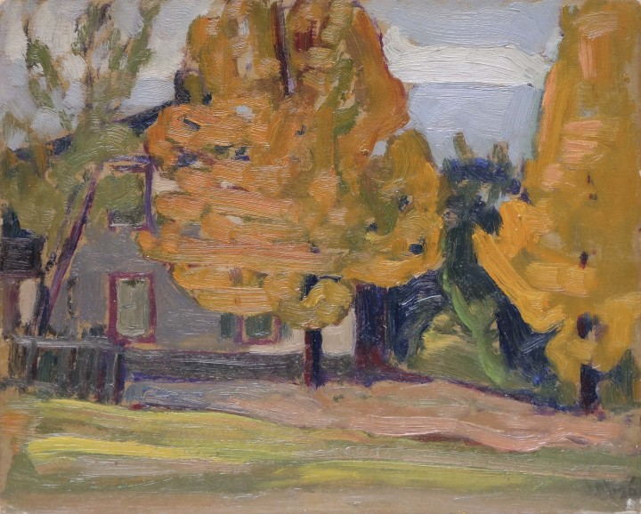 J.E.H. MacDonald, R.C.A., O.S.A., Mr. Joe Cox's House (next door west), Thornhill, 1926