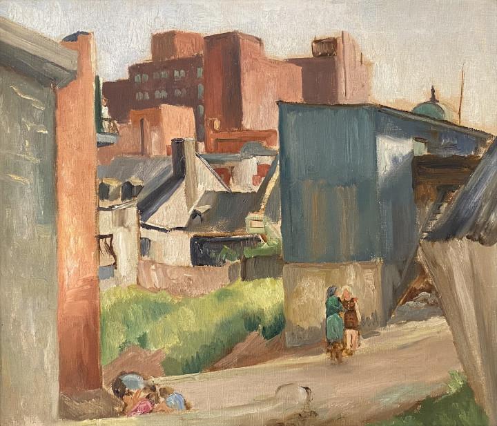 Louis Muhlstock, In The Lane, Montreal, 1940 (circa)