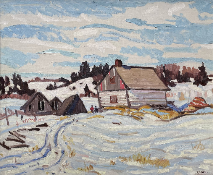 """Randolph S. Hewton 1888-1960Winter, Charlevoix County, 1932 (circa) signed, """"R.S. Hewton"""" (lower right) Oil on canvas - 20 x 24 in 50.8 x 61 cm"""