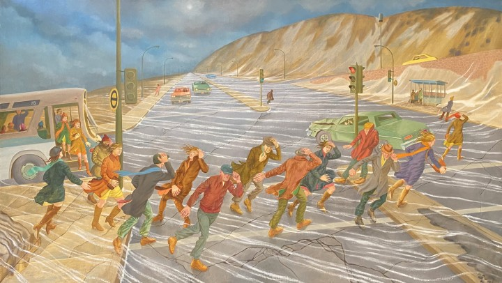 Philip Surrey March Wind (The Crossing), 1980 Oil on canvas 48 x 84 in 121.9 x 213.4 cm