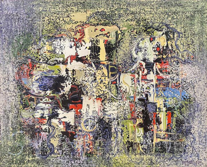 Léon Bellefleur Les Saltimbanques, 1970 Oil on canvas - Huile sur toile 25 5/8 x 31 7/8 in 65 x 81 cm