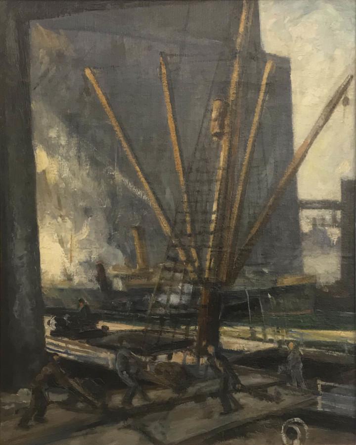 Adrien Hébert Port of Montreal, 1927 (circa) Oil on canvas 20 ⅛ x 16 ⅛ in 51 x 41 cm