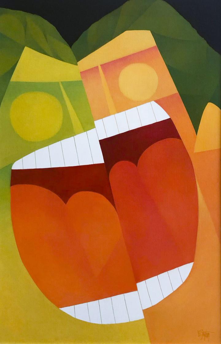 Claude Le Sauteur Histoire drôle - Funny Story, 2003 Oil on canvas - huile sur toile 36 x 24 in 91.4 x 61 cm