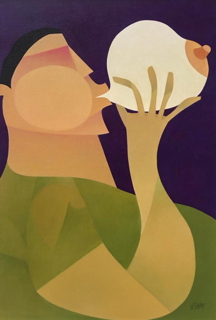Claude Le Sauteur Le scabreux - Obscene, 2004 Oil on canvas - huile sur toile 36 x 24 in 91.4 x 61 cm
