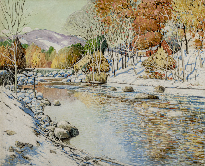 Marc-Aurèle Fortin Lafresnière, premières neiges, 1923-1928 (circa) Oil on canvas 39 x 48 in 99.1 x 121.9 cm