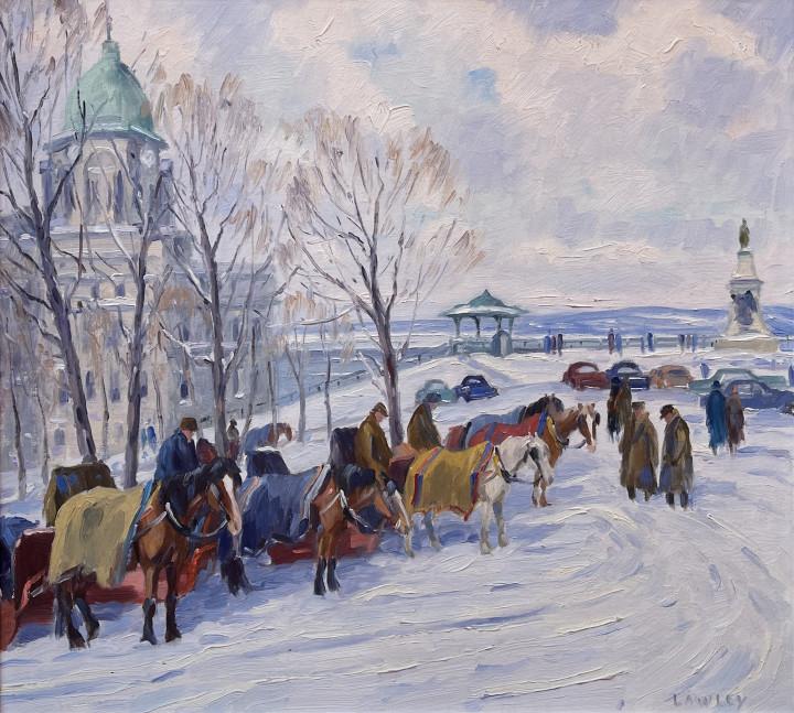 Douglas Lawley Near Dufferin Terrace, Quebec Oil on canvas board 20 x 24 in 50.8 x 61 cm