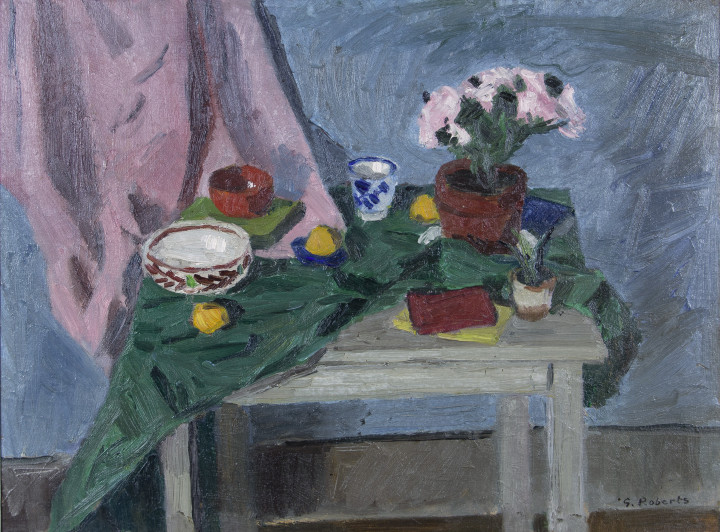 Goodridge Roberts Still Life and Table, 1954 (circa) Oil on masonite 22 1/2 x 30 in 57.1 x 76.2 cm