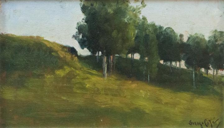 Marc-Aurèle Suzor-Coté Paysage (Landscape), 1895 Oil on panel - Huile sur panneau 6 x 9 in 15.2 x 22.9 cm
