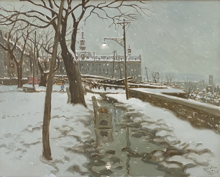 John Little Parc Montmorency, Québec (with a view of the Seminaire), 1966 Oil on canvas 24 x 30 in 59.1 x 74.9 cm