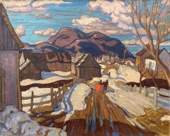 A.Y. Jackson Early Spring, Quebec, 1926 Oil on canvas 24 x 32 in 61 x 81.3 cm