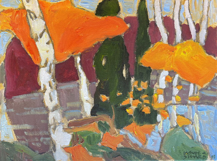 Claude A. Simard Cedar's Pass, 2003 Acrylic on canvas - acrylique sur toile 12 x 16 in 30.5 x 40.6 cm