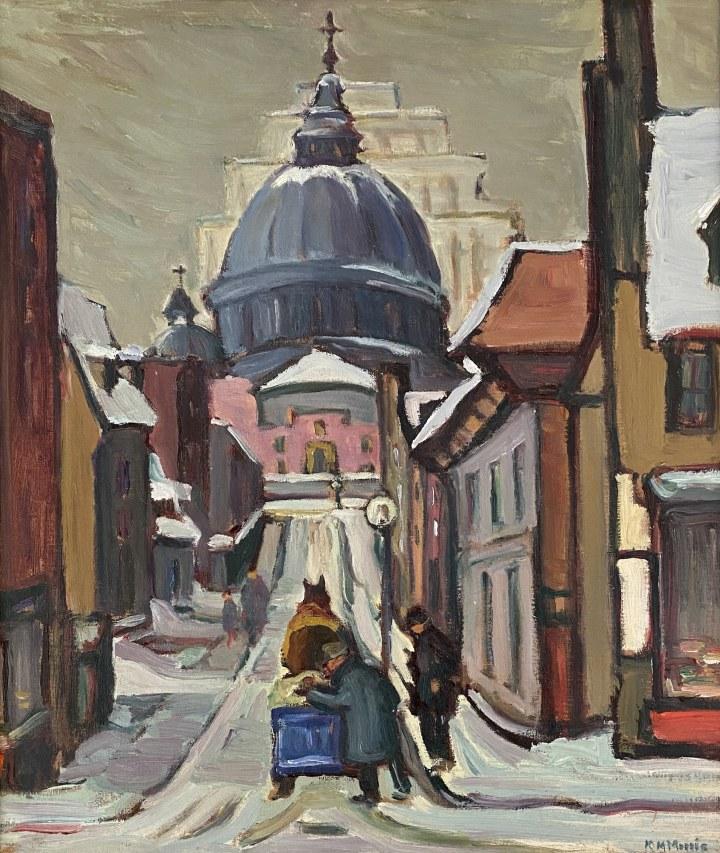 Kathleen Morris Looking up Sainte Cecile Street, 1933 (circa) Oil on canvas 21 x 18 in 53.3 x 45.7 cm
