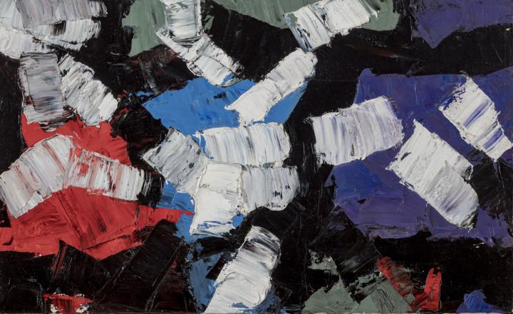 Rita Letendre Orbites, 1958 Oil on canvas 18 x 30 in 45.7 x 76.2 cm