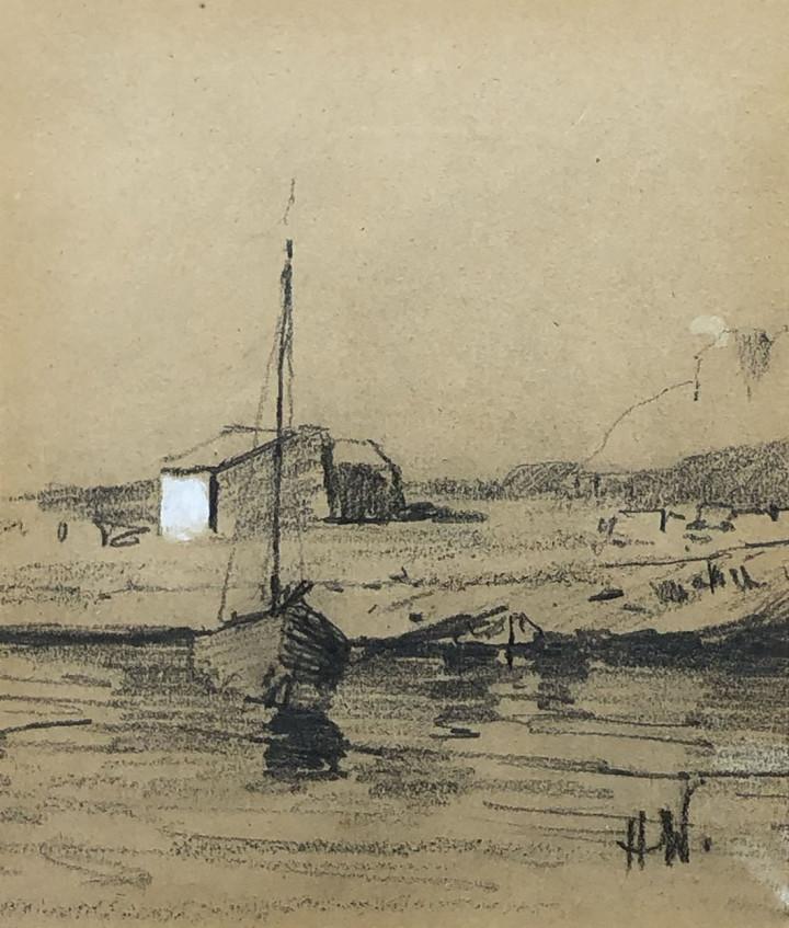 Horatio Walker, Boat at Low Tide