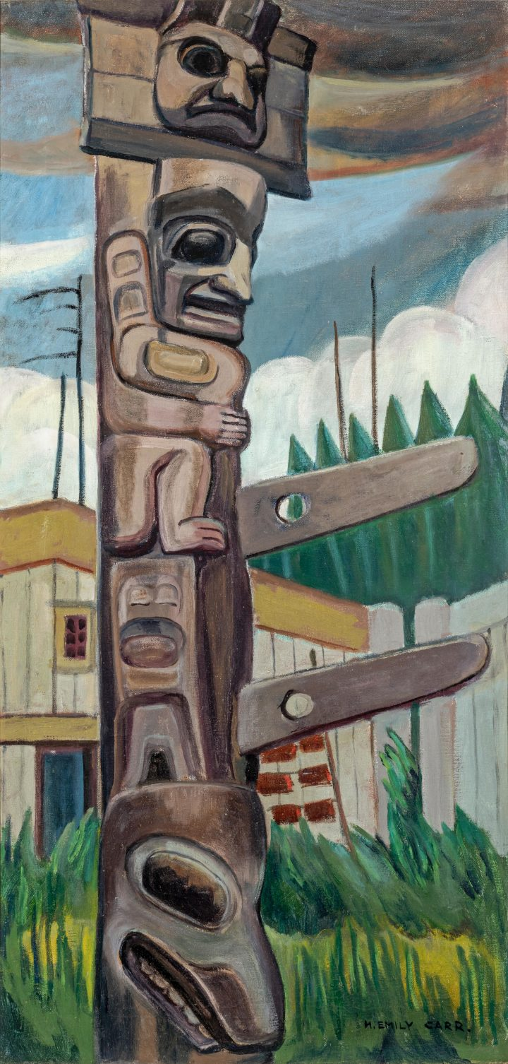 Emily Carr Haida Totem, 1928 Oil on canvas 36 x 18 in 91.4 x 45.7 cm
