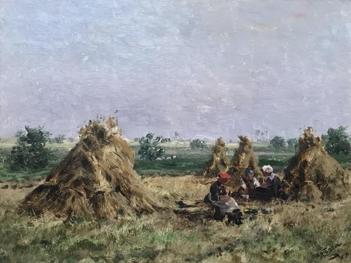 Allan Edson Wheat Field, 1880 (circa) Oil on panel 10 x 13 in 25.4 x 33 cm