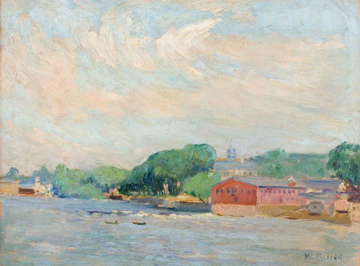 Maurice Cullen Terrebonne, 1915 (circa) Oil on wood panel - Huile sur panneau de bois 10 1/4 x 13 3/4 in 26 x 34.9 cm