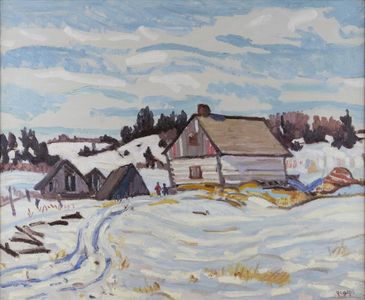 Randolph S. Hewton Winter, Charlevoix County, 1932 (circa) Oil on canvas - Huile sur toile 20 x 24 in 50.8 x 61 cm