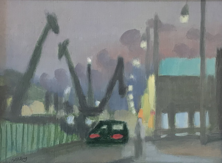 Philip Surrey Decarie II Oil on board 6 x 8 in 15.2 x 20.3 cm