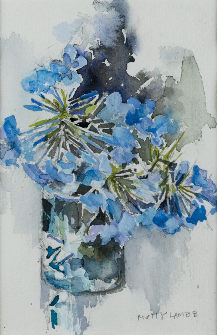 Molly Lamb Bobak Plumbago, 1992 Watercolour on paper - aquarelle sur papier 9 x 6 in 22.9 x 15.2 cm