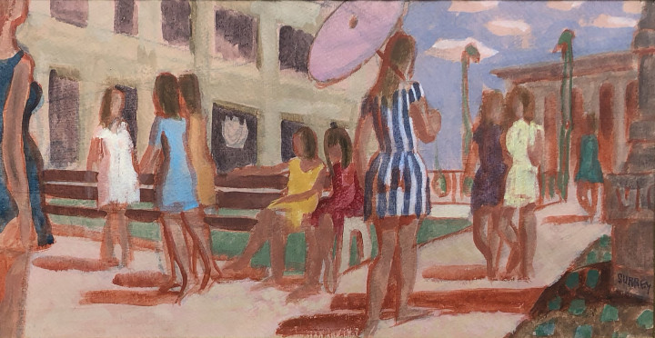 Philip Surrey Study for Place Victoria Square, 1970 Mixed media 8 x 16 in 20.3 x 40.6 cm