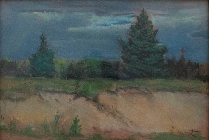 Franklin Brownell Untitled (At the edge of the forest) Pastel - Pastel 10 x 14 in 25.4 x 35.6 cm