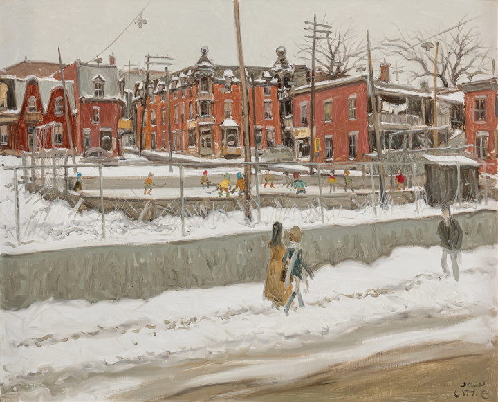 John Little Rue Henri Julien coin Marie Anne, Montreal, 1971 Oil on canvas 24 x 30 in 61 x 76.2 cm