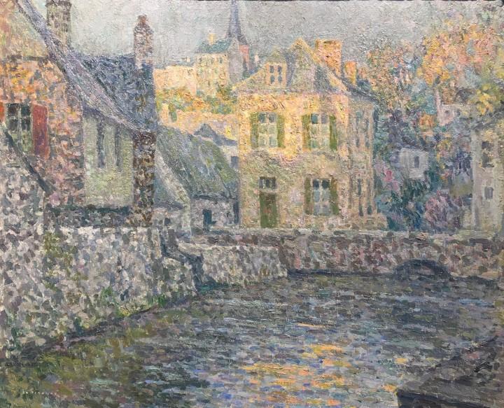 HENRI LE SIDANER Maisons sur la rivière, Falaise 1920