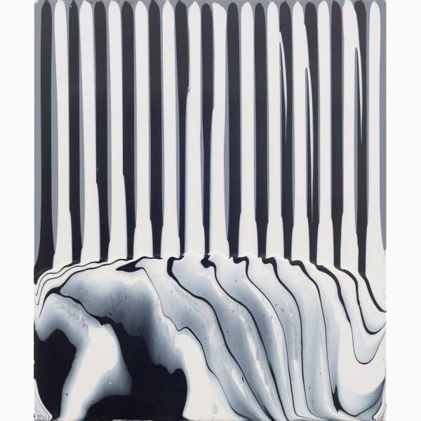 Puddle Painting: Grey/Black/White, 2009