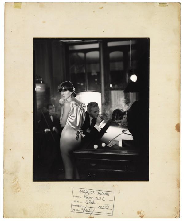 Carmen, Evening Dress by Patou, Au Réveil, August 1957  Gelatin silver print  10 x 8 in.  Copyright © The Richard Avedon Foundation