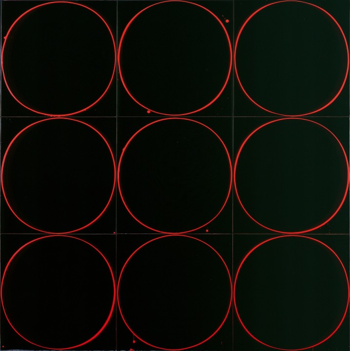 Untitled Circle Painting: Black/Red/Black, 2005