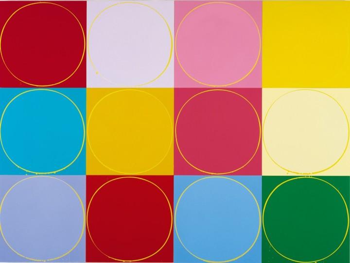 Untitled Circle Painting: 12 Multicoloured Panels, No. 2, 2003