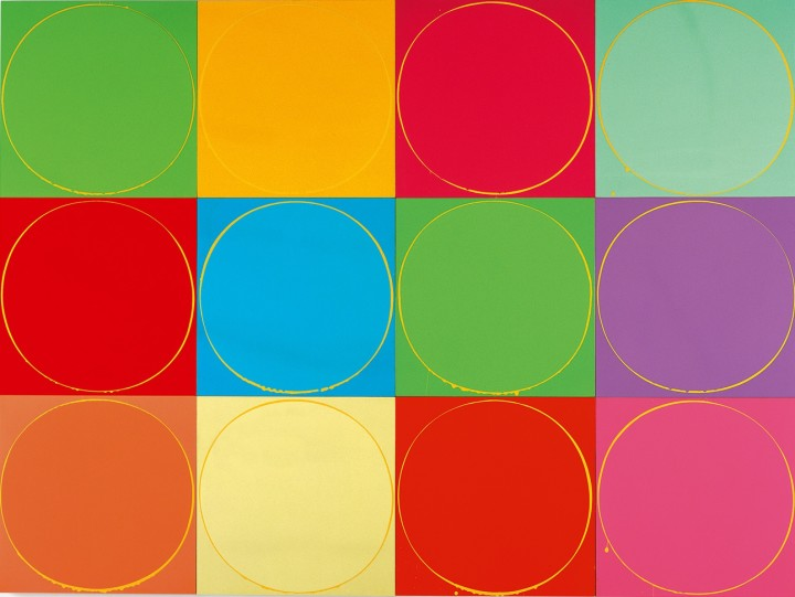 Untitled Circle Painting: 12 Multicoloured Panels, No.1, 2003