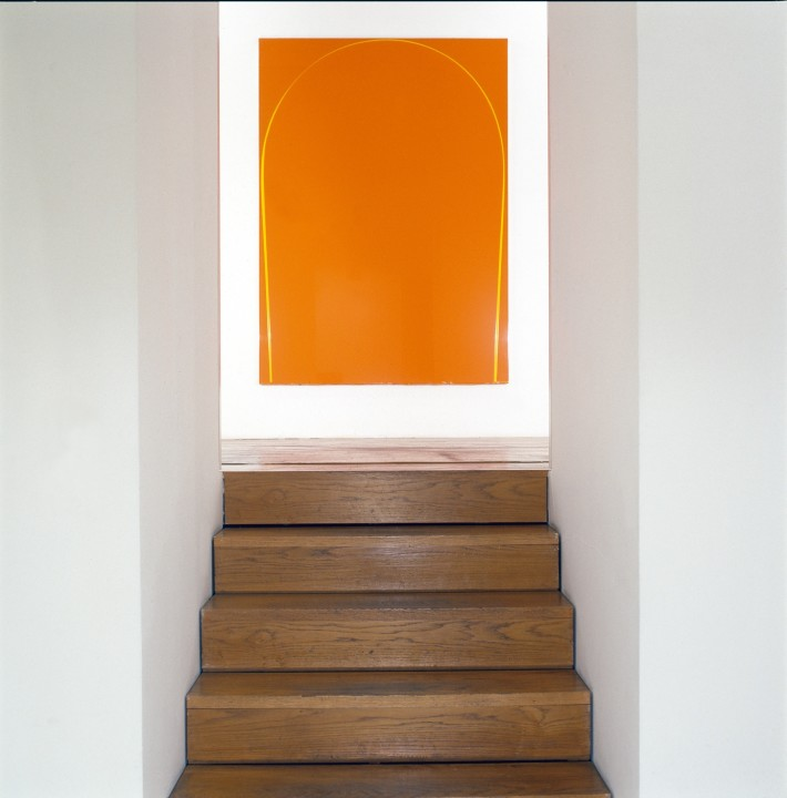 Poured Painting: Orange, Yellow, Orange, 1998