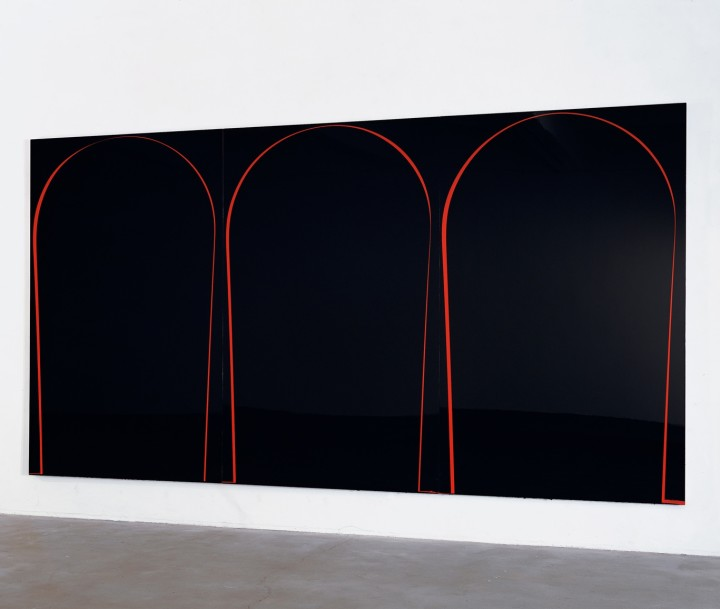 Poured Painting: Black, Red, Black, 1999
