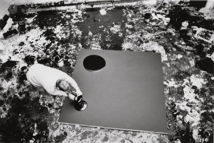 artist working on Untitled Matt Black, 1990