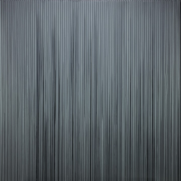 Poured Lines: Mixed Black, White and Greys, 1994