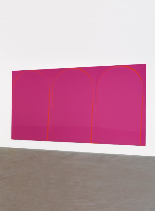 Poured Painting: Magenta, Orange, Magenta, 1999