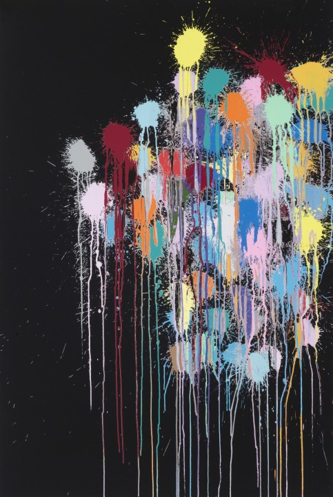 Colour Splat Edge (Black), 2017