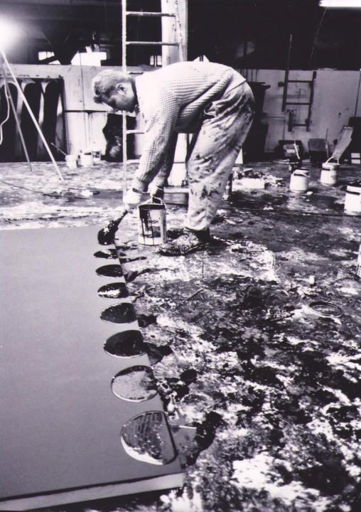 Ian working in his South London studio, 1990