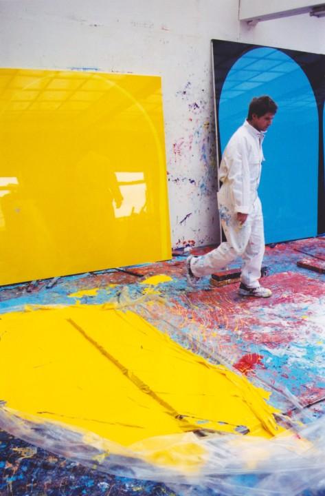 Ian working in his studio, 1999