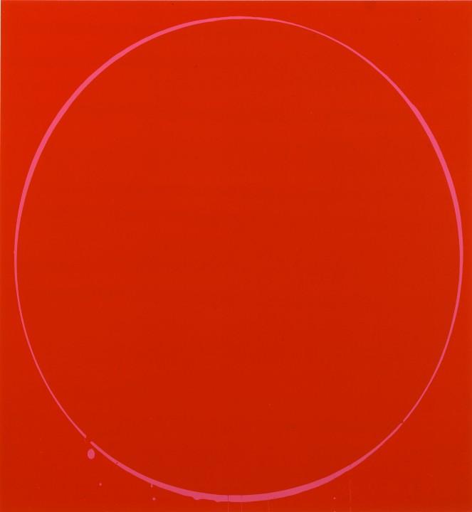 Oval: dark red, magenta, dark ed, 2002