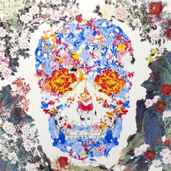 Chinese Floral Skull
