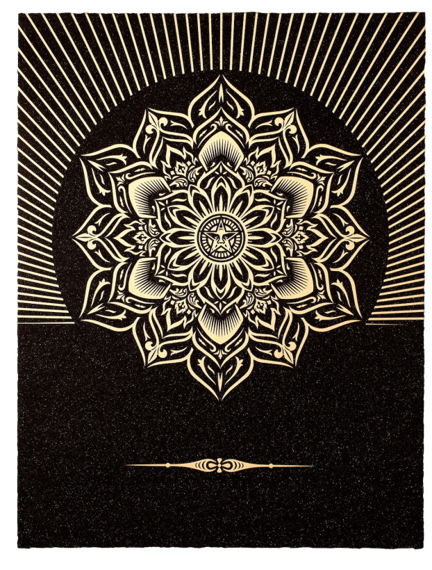 Obey Lotus Diamond - Black and Gold