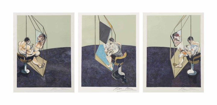 "<span class=""artist""><strong>Francis Bacon</strong></span>, <span class=""title""><em>Three Studies of the Male Back</em>, 1987</span>"