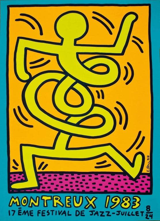 "<span class=""artist""><strong>Keith Haring</strong></span>, <span class=""title""><em>Montreux Jazz Festival (Yellow Man)</em>, 1983</span>"