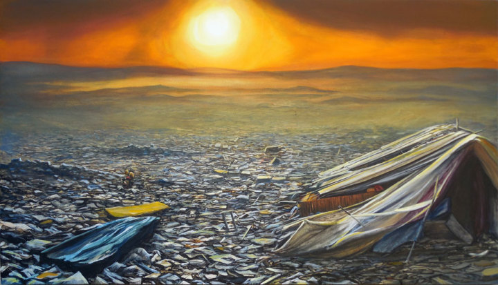 Slum Landfill Sunset