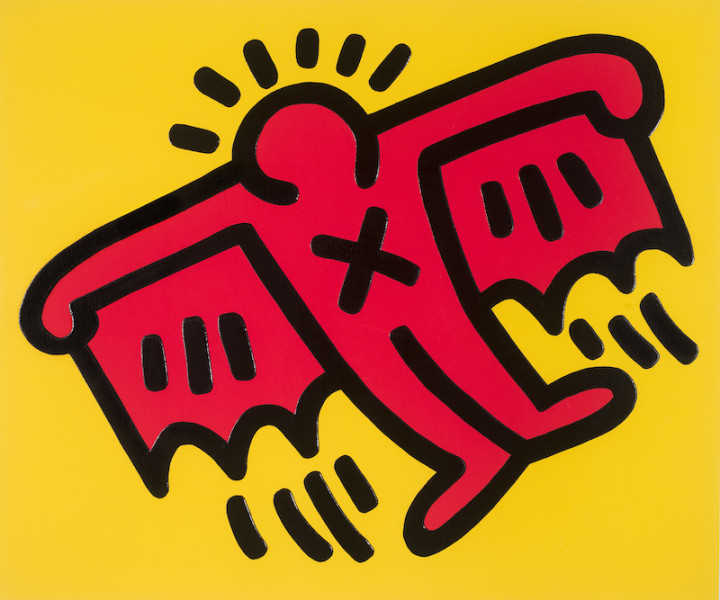 "<span class=""artist""><strong>Keith Haring</strong></span>, <span class=""title""><em>Icons 4</em>, 1990</span>"