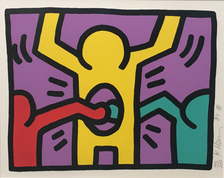 "<span class=""artist""><strong>Keith Haring</strong></span>, <span class=""title""><em>Pop Shop 1</em>, 1987</span>"